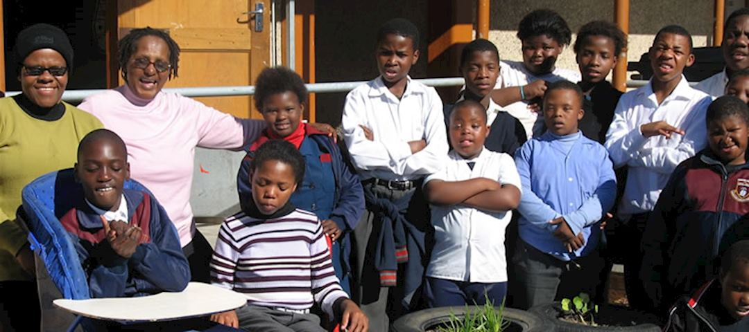 Pupils at the Khayelitsha special needs school, Uthando Tour, South Africa