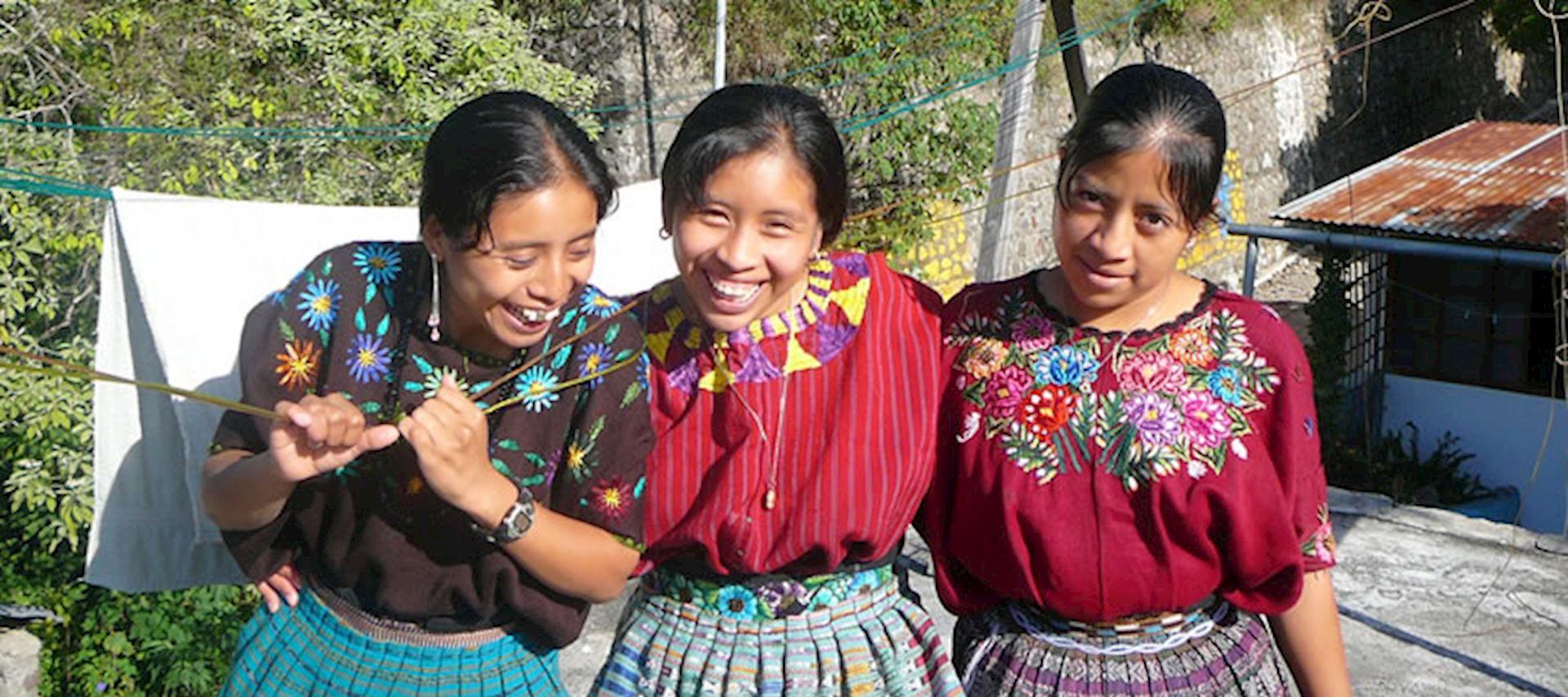 The charity Amigos de Santa Cruz aims to help young women like these in Santa Cruz La Laguna, Guatemala